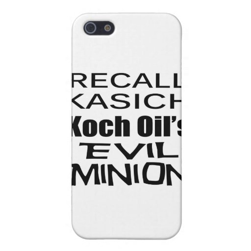 Recall Governor John Kasich Koch Oil's Minion Covers For iPhone 5