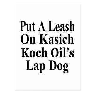 Recall Governor John Kasich Koch Oil's Minion Postcard