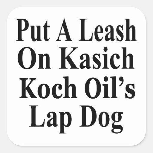 Recall Governor John Kasich Koch Oil's Minion Square Stickers
