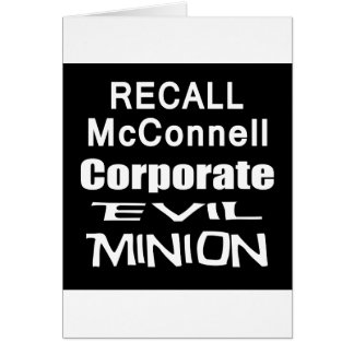 Recall Governor Mitch McConnell Koch Oil's Minion Cards