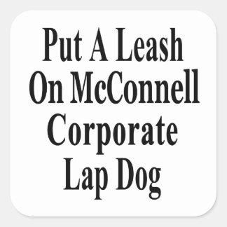 Recall Governor Mitch McConnell Koch Oil's Minion Square Sticker