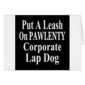 Recall Governor Pawlenty Koch Oil's  Evil Minion Greeting Card