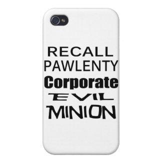 Recall Governor Pawlenty Koch Oil's Evil Minion iPhone 4 Cover
