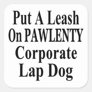 Recall Governor Pawlenty Koch Oil's  Evil Minion Square Stickers