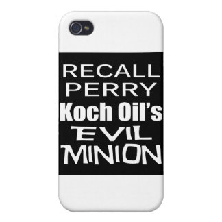 Recall Governor Rick Perry Koch Oil's Evil Minion iPhone 4 Case