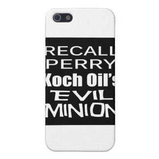 Recall Governor Rick Perry Koch Oil's Evil Minion iPhone 5 Covers