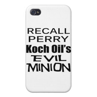 Recall Governor Rick Perry Koch Oil's Evil Minion Case For iPhone 4