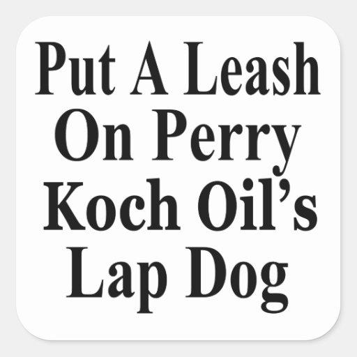 Recall Governor Rick Perry Koch Oil's  Evil Minion Square Stickers