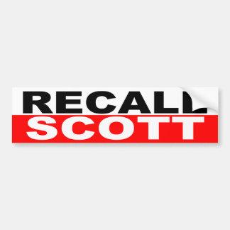 Recall Governor Rick Scott Bumper Sticker