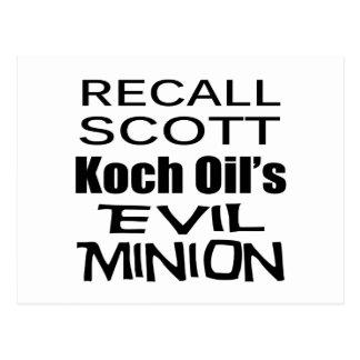 Recall Governor Rick Scott Koch Oil's  Evil Minion Postcard