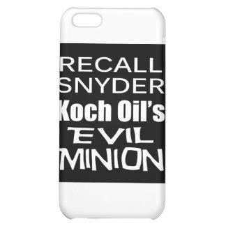 Recall Governor Rick Snyder Evil Corporate Minion iPhone 5C Case