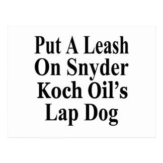 Recall Governor Rick Snyder Evil Corporate Minion Post Card
