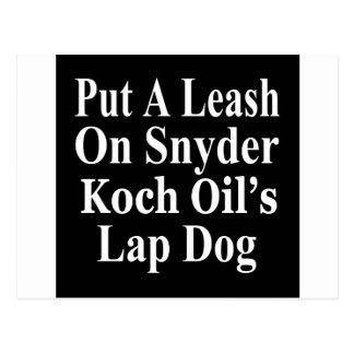 Recall Governor Rick Snyder Evil Corporate Minion Postcard