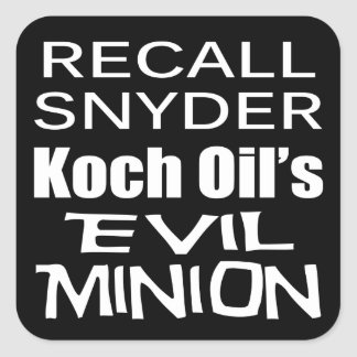 Recall Governor Rick Snyder Evil Corporate Minion Stickers