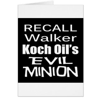 Recall Governor Scott Walker Corporate Evil Minion Greeting Card