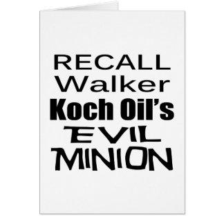 Recall Governor Scott Walker Corporate Evil Minion Card
