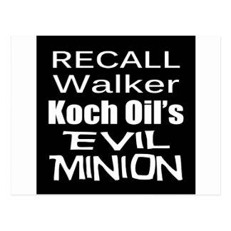 Recall Governor Scott Walker Corporate Evil Minion Postcards