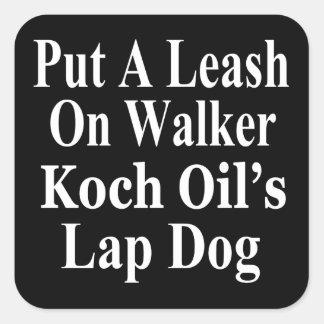 Recall Governor Scott Walker Corporate Evil Minion Sticker