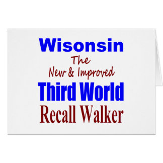 Recall Governor Scott Walker Corporate Minion Greeting Card