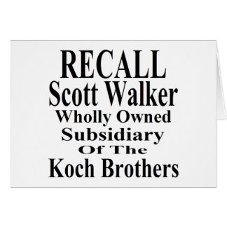 Recall Governor Scott Walker Corporate Minion Greeting Card