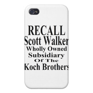 Recall Governor Scott Walker Corporate Minion Cover For iPhone 4