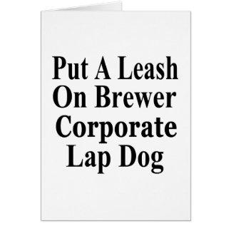 Recall Jan Brewer Evil Corporate Minion Greeting Card