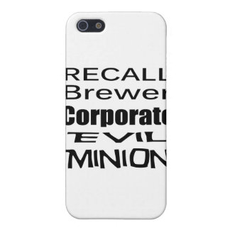 Recall Jan Brewer Evil Corporate Minion Cover For iPhone 5