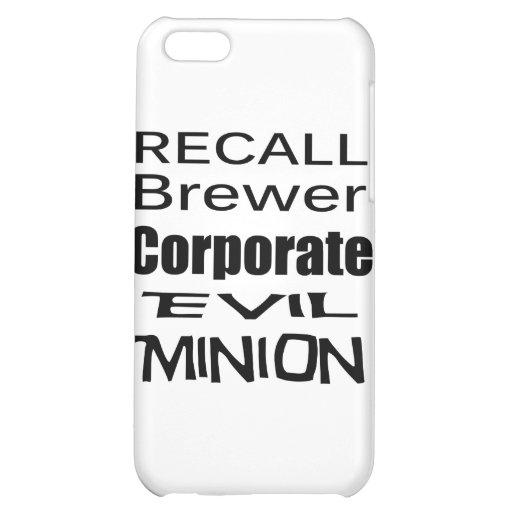 Recall Jan Brewer Evil Corporate Minion iPhone 5C Case
