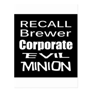 Recall Jan Brewer Evil Corporate Minion Postcard