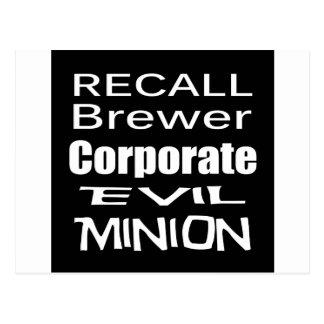Recall Jan Brewer Evil Corporate Minion Postcard