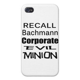 Recall Michele Bachmann Corporate Evil Minion iPhone 4 Cases