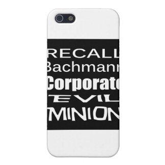 Recall Michele Bachmann Corporate Evil Minion iPhone 5 Cases