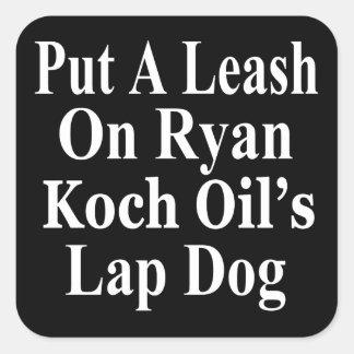 Recall Paul Ryan Koch Oil's Evil Minion Square Sticker