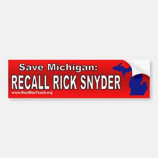 Recall Rick Snyder Bumper Sticker