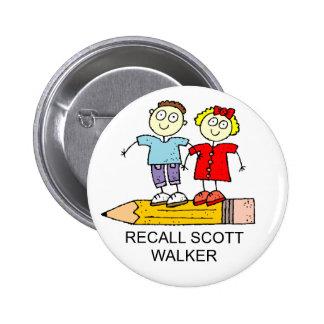 RECALL SCOTT WALKER 6 CM ROUND BADGE