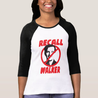 Recall Walker Wisconsin Ladies T-Shirt