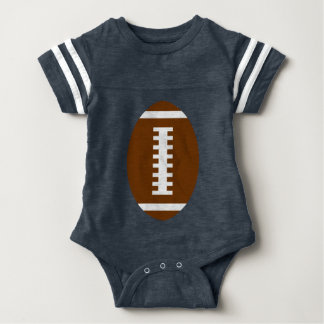 RECEIVE ME• Football Baby Navy+Lime | Back Jersey Baby Bodysuit