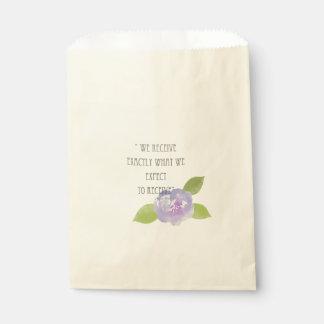 RECEIVE WHAT WE EXPECT TO RECEIVE PURPLE FLORAL FAVOUR BAG