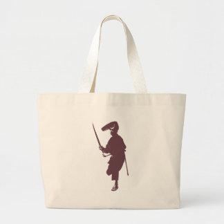 Recent samurai large tote bag