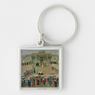 Reception at the Court of Sultan Selim III Key Chains