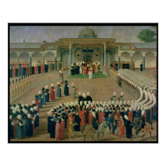 Reception at the Court of Sultan Selim III Poster