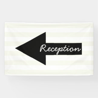 Reception Direction Banner - Arrow Pointing Left