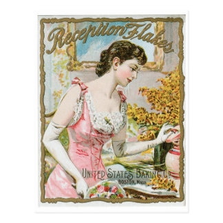 Reception Flakes Vintage Baking Ad Art Postcard