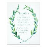 Reception Laurel Wreath Modern Simple Olive Leaf 11 Cm X 14 Cm Invitation Card