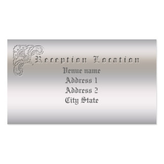Reception Location Business Card Templates