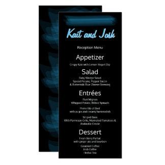 Reception Menu Minimalist Elegant Glowing Gothic Card