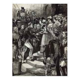 Reception of Louis Philippe at Windsor Castle Postcard