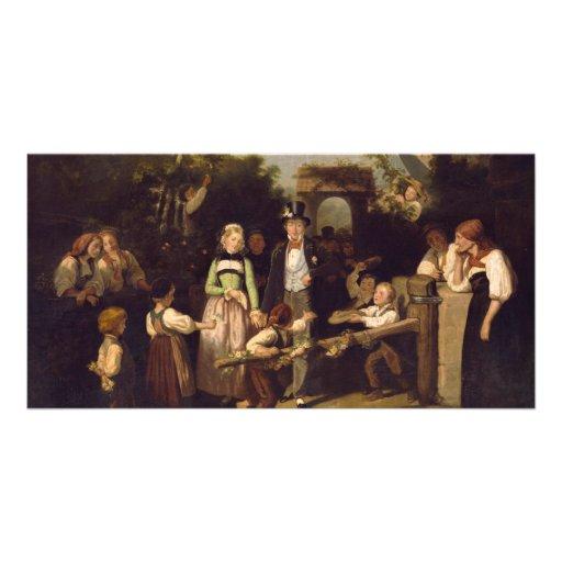 Reception of the Wedding Couple by Theodor Schuz Custom Photo Card
