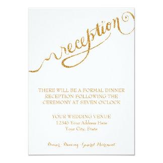 Reception Script Forever in Love Gold Glitter 11 Cm X 16 Cm Invitation Card