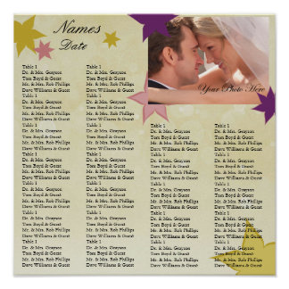 Reception Seating Chart with your Photo